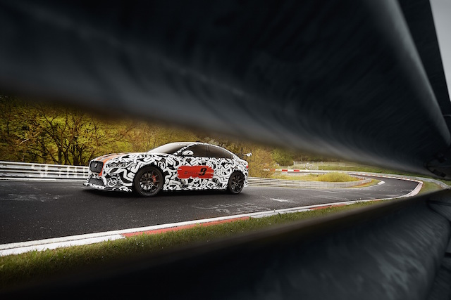Jaguar XE SV Project 8 prototype testing Nurburgring World Copyright: Patrick Gosling / Beadyeye Ref:  XE_SV_Project8_NBR-0881.CR2