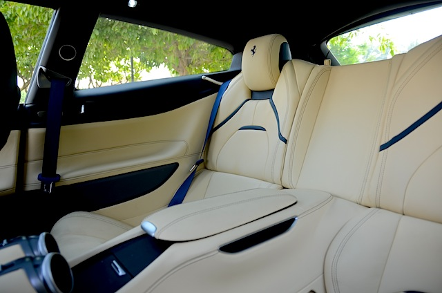 Ferrari GTC4Lusso rear seats