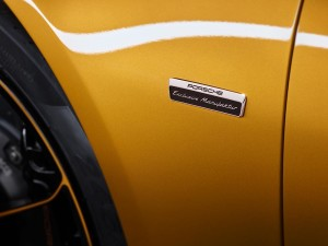 Porsche 911 Turbo S Exclusive series badge