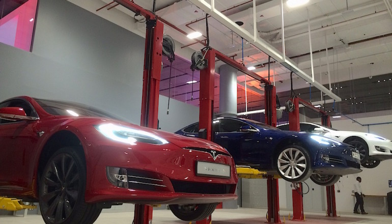Tesla showroom launch