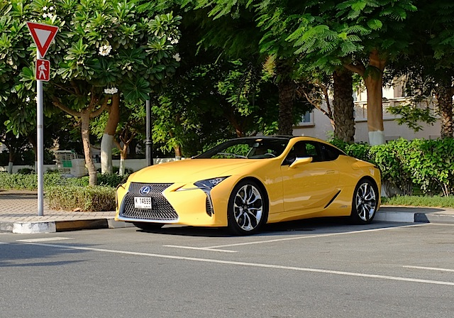 Lexus LC 500h three quarters