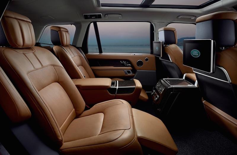 2018 Range Rover rear cabin