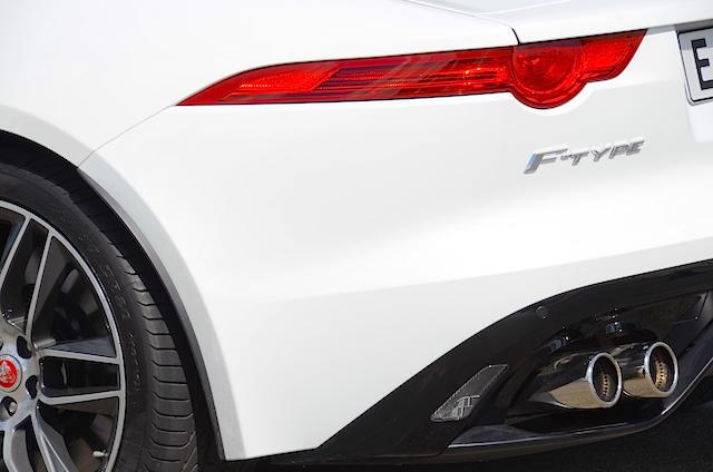 Jaguar F Type R exhaust