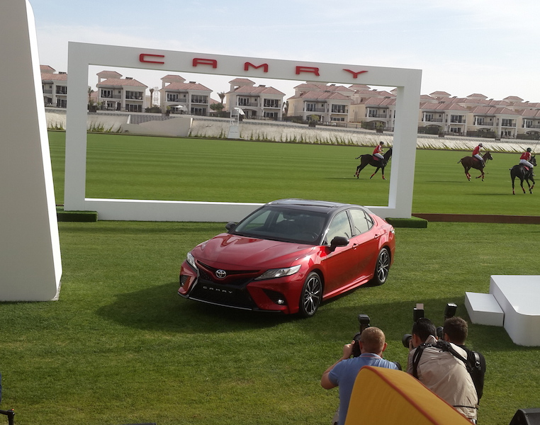 Camry red banner