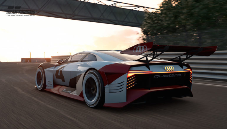 Audi E Tron Vision Gran Turismo The Game Gets Real Drivemeonline Com